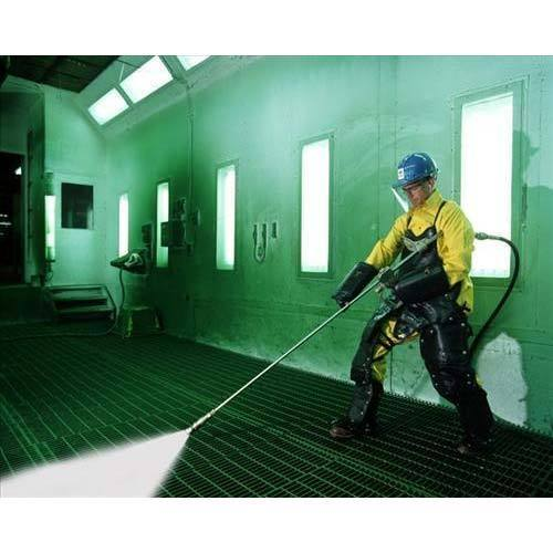 Очистка стен покрасочной камеры
