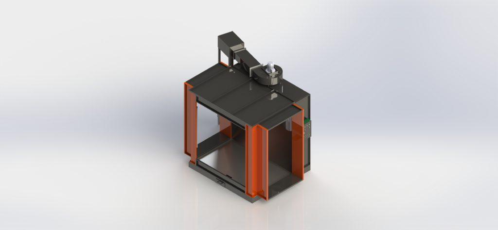 Камера напыления порошковой краски