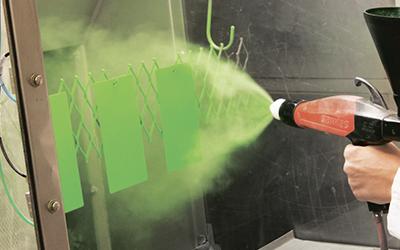 Нанесение порошковой краски