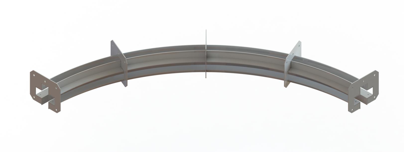 Поворотный рельс конвейера