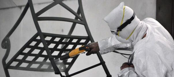 Порошковое окрашивание металлической мебели