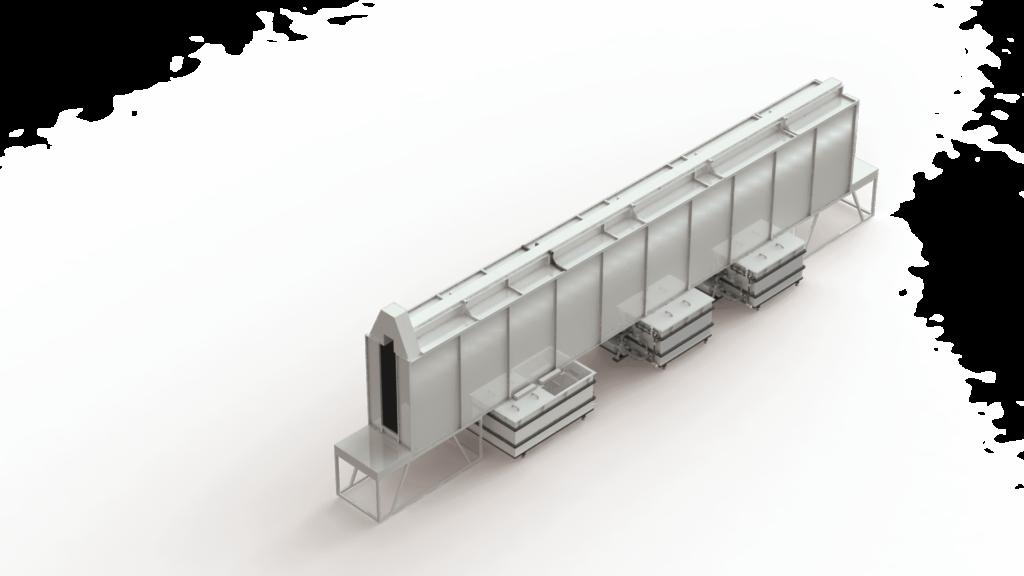 Линия подготовки поверхности струйного типа