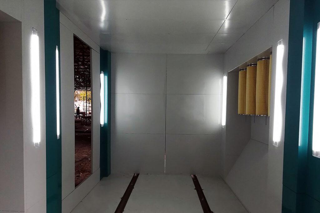 камера напыления в автоматической линии